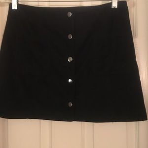 Forever 21 Black Faux Suede skirt